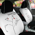 Human Touch Car Seat Covers Custom seat covers - White EB001