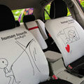 Human Touch Car Seat Covers Custom seat covers - White EB002