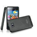 IMAK Slim Metal Silicone Cases Covers for Samsung i9100 GALAXY SII S2 - Black