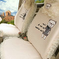 Bear Car Seat Covers Vicat ice silk - Beige