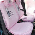 Bear Car Seat Covers Vicat ice silk - Pink