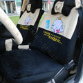 Bear universal Car Seat Covers sets plush fabrics - Black