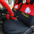 Bear universal Car Seat Covers sets plush fabrics - Red
