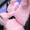 Car Seat Covers Bud silk Lace - Pink