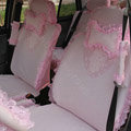 Hello Kitty Car Seat Covers Bud silk Lace - Pink