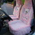 Hello Kitty universal Car Seat Covers Cushion velvet - Pink