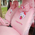 Hello Kitty universal Car Seat Covers diamond velvet - Pink