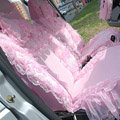 Universal Car Seat Covers Bud silk Lace - Pink EB002