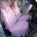 Universal Car Seat Covers Bud silk Lace - Pink