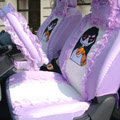 Universal Car Seat Covers Bud silk Lace - Purple EB001