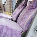 Universal Car Seat Covers Bud silk Lace - Purple EB002