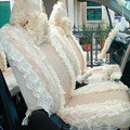 Universal Car Seat Covers Bud silk Lace - Yellow