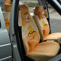 winnie the pooh car seat covers diamond velvet - Yellow