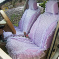Car Seat Covers Bud silk Lace Custom - Purple