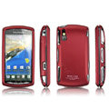 IMAK Slim Scrub Silicone hard cases Covers for Sony Ericsson Xperia Play Z1i R800i - Red