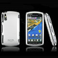 IMAK Slim Scrub Silicone hard cases Covers for Sony Ericsson Xperia Play Z1i R800i - Silver(Limited Edition)