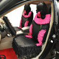 Universal Car Seat Covers Bud silk Lace - Black
