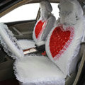 Universal Car Seat Covers Bud silk Lace - White EB002