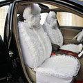 Universal Car Seat Covers Bud silk Lace - White