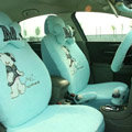 Cartoon Bear Universal Car Seat Covers - Blue EB002