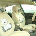 Cartoon Bear Universal Car Seat Covers - Yellow EB001