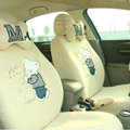Cartoon Bear Universal Car Seat Covers - Yellow EB003