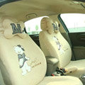 Cartoon Bear Universal Car Seat Covers - Yellow EB004