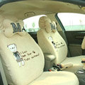 Cartoon Bear Universal Car Seat Covers - Yellow EB005