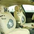 Cartoon Bear Universal Car Seat Covers - Yellow