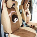 Cartoon Monchichi Universal Car Seat Covers - Brown