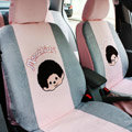 Cartoon Monchichi Universal Car Seat Covers - Gray