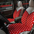 Fashion Auto Car Front Rear Seat Covers Cushion - Red