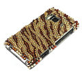 Bling Zebra Crystals Hard Cases Covers For Nokia N8 - Brown
