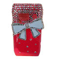 Bling bowknot Crystals Hard Cases Covers For Nokia N8 - Red