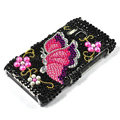 Butterfly bling Crystals Hard Cases Covers For Nokia N8 - Black