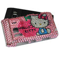 Hello kitty bling Crystals Hard Cases Covers For Nokia N8 - Pink