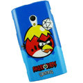 Angry bird Silicone Hard Cases Covers For Sony Ericsson X10i - Blue EB001