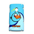Angry bird Silicone Hard Cases Covers For Sony Ericsson X10i - Blue