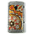 Bling Crystals Hard Cases Covers For Sony Ericsson X10i - Brown
