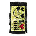 Bling Crystals Hard Cases Covers For Sony Ericsson X10i - Yellow