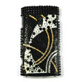 Bling Diamond Crystals Hard Cases Covers For Sony Ericsson X10i - Black