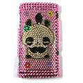 Bling Panda Crystals Hard Cases Covers For Sony Ericsson X10i - Pink