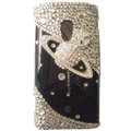 Bling Saturn Crystals Hard Cases Covers For Sony Ericsson X10i - Black