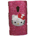 Hello kitty Bling Crystals Hard Cases Covers For Sony Ericsson X10i - Rose