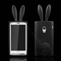 Rabbit Ears Silicone Case Covers For Sony Ericsson X10i - Black