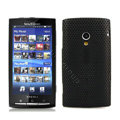 Slim Scrub Mesh Silicone Hard Cases Covers For Sony Ericsson X10i - Black