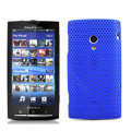 Slim Scrub Mesh Silicone Hard Cases Covers For Sony Ericsson X10i - Blue