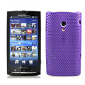 Slim Scrub Mesh Silicone Hard Cases Covers For Sony Ericsson X10i - Purple