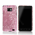 Dreamplus Bling Crystals Cases Covers For Samsung i9100 GALAXY SII S2 - Pink