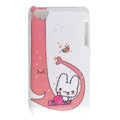 Cartoon cat Silicone Cases covers for iPhone 5G - Red